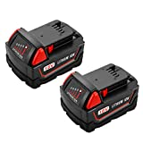 Energup 2pack 18V 5.0Ah Replacement Battery for Milwaukee M18 Cordless Power Tool 48-11-1850 48-11-1852 48-11-1840 48-11-1828 Milwaukee M18 Battery
