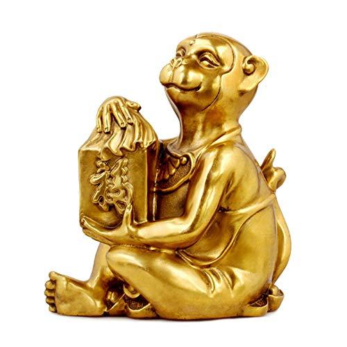 ラオジュン炉 銅猿モンキー風水印刷銅モンキーバラエティ風水装飾 小さな赤い猿  B07MRJJMY7
