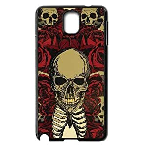 Diy Colorful Sugar Skull Custom Cover Phone Case for samsung galaxy note 3 Black Shell Phone [Pattern-6]