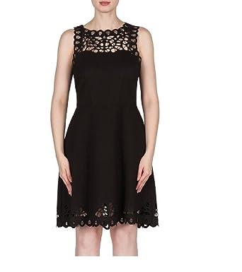 Joseph Ribkoff Laser Cut Lace Sleeveless Dress Style 173314 Size 4
