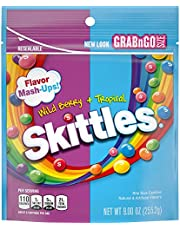 Skittles Flavor Mash-Ups Wild Berry and Tropical Candy, 9 ounce (8 Bags)