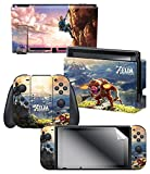 "Skin & Screen Protector Set The Legend of Zelda Breath of the Wild ""Link Hilltop View"", Blue – Nintendo Switch Review"