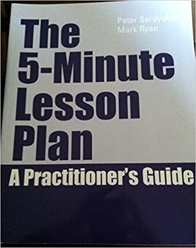Book The 5-minute Lesson Plan a Practioner's Guide