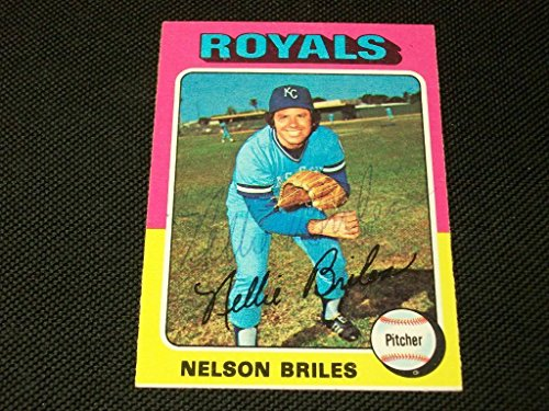 Nellie Briles Auto Signed 1975 Topps Card #495 JSA - N 495