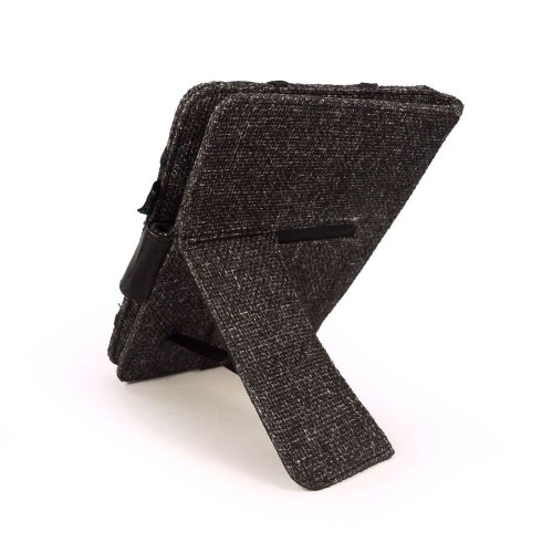 """Tuff-Luv Natural Hemp 'Embrace Plus' case cover & stand for Kindle Touch / Paperwhite (Sleep Book) / 6"""" E-Ink - Black"""