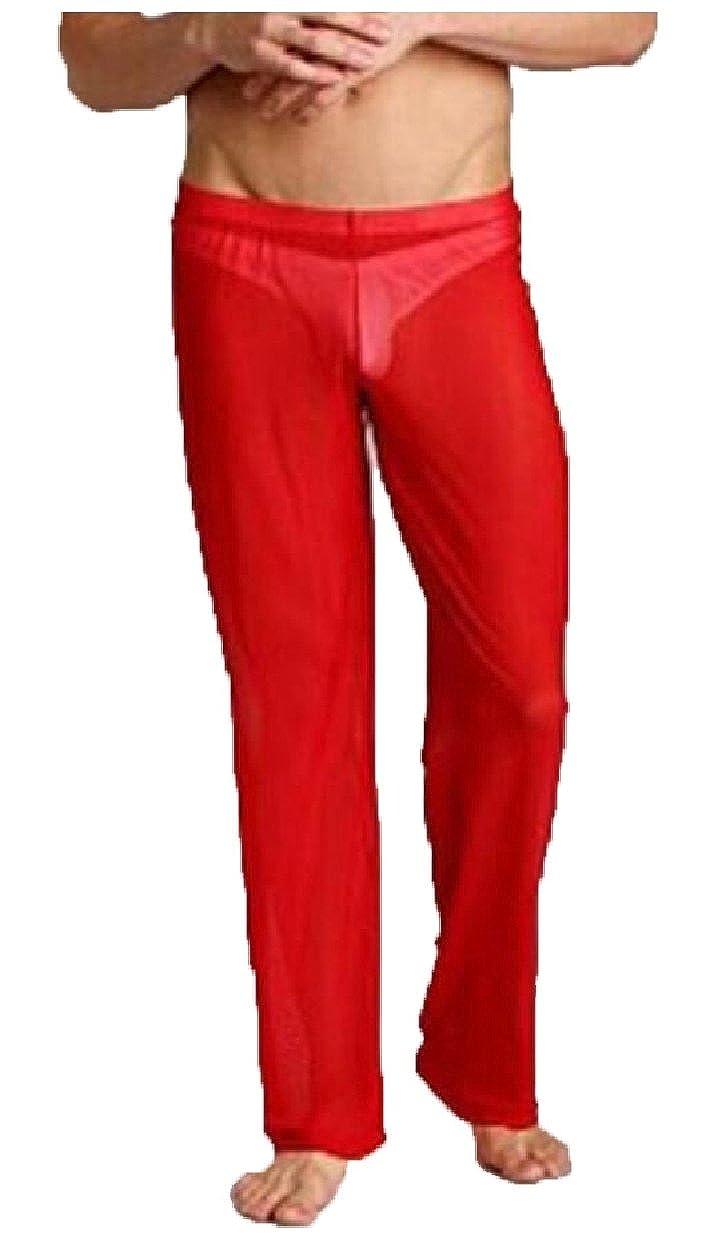 omniscient Mens Mesh See Through Home Lounge Sheer Pants Nightwear Underwears
