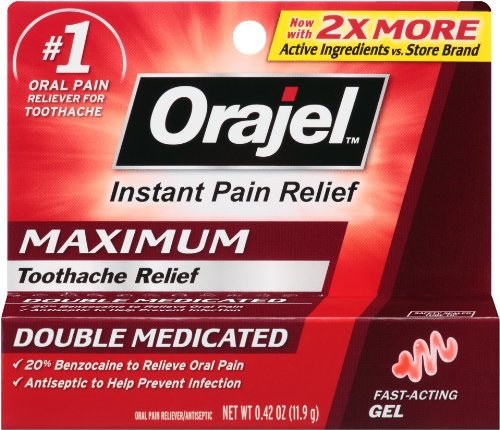 Orajel Force maximale Oral Gel anti-douleur - 0,42 oz