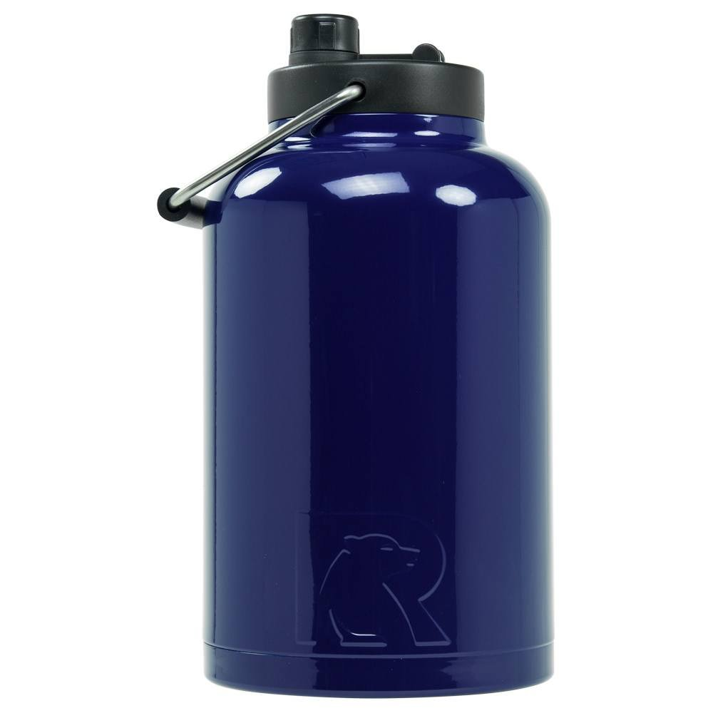 RTIC Double Wall Vacuum Insulated Stainless Steel Jug (Navy, One Gallon)
