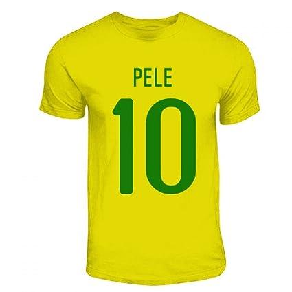 88abb4651 Amazon.com   Gildan Pele Brazil Hero T-Shirt (Yellow)   Sports ...