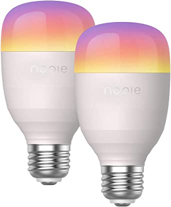 Bombilla LED Nooie Inteligente E27 10W. Bombilla WiFi multicolor ...