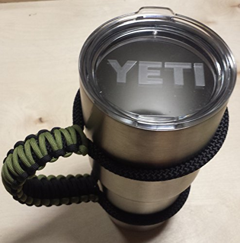 Handle Fits Yeti Rambler 30oz. Moss and Black(HANDLE ONLY)