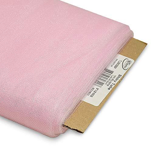 Baby Pink 54Inch 25Yard Expo International 54Inch Shiny Polyester Tulle Fabric, Lemon Yellow, 54Inch 25Yard