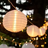 Lights4fun 10 Chinese Lantern Connectable LED Fairy Lights for Indoor Outdoor Use