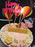 3D Cute Colorful Hot Air Balloon Cake Toppers Set
