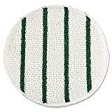 Low Profile Scrub-Strip Carpet Bonnet, 19'' Dia, White/green, 5 Pads/pack