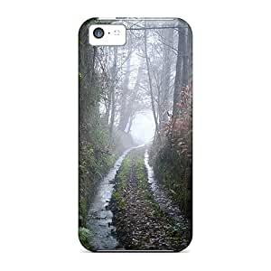 LastMemory Case Cover Protector Specially Made For Iphone 5c Water Trail