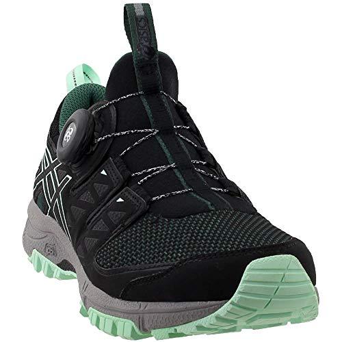 - ASICS Women's Gel-FujiRado Trail Running Shoes (9.0 B(M) US, Hampton Green/Black/Aluminum)