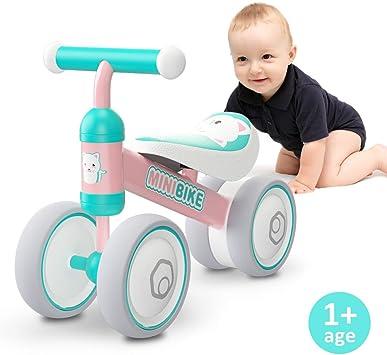XIAPIA Bicicleta sin Pedales para Niños Bicicleta Bebe 1 Año Bicicleta Equilibrio 1 Año Bicicleta Infantil sin Pedales de Forma Animal Lindo de Abeja de Regalo Favorito del Niño (Gato): Amazon.es: Juguetes