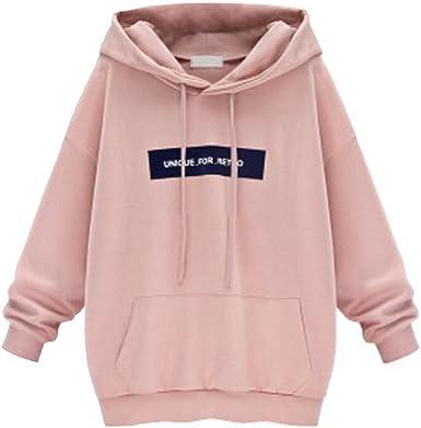 TONSEE Women Long Sleeve Hoodie Sweatshirt Jumper Hooded Pullover Velvet Tops
