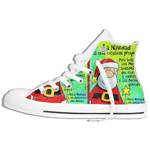 [Spanish Feliz Navidad For Men And Women Hi-tops Casual Sneakers Shoes Slip-On Athletic Low Top Simple Best Gift] (Female Jigsaw Costume)