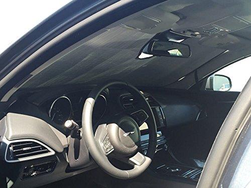 (The Original Windshield Sun Shade, Custom-Fit for Jaguar XE Sedan 2017, 2018, 2019, Silver Series)