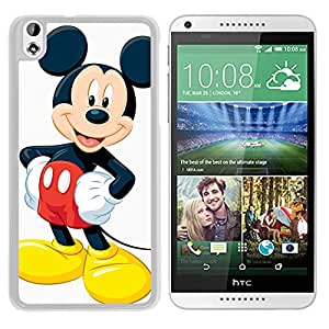Host Sale HTC Desire 816 Case ,Fashion And Durable Designed With Mickey Mouse Christmas 3 White HTC Desire 816 Cover