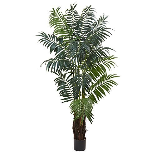 Nearly Natural Bulb Areca Palm Tree, 7.5' by Nearly Natural