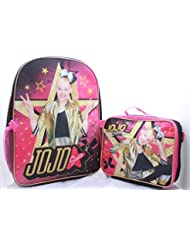 JoJo Siwa Girls School Backpack Lunch Box Book Bag Combo SET