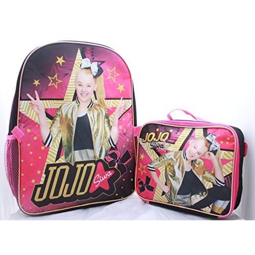 """16/"""" JoJo Siwa Girls Backpack School Bag Bookbag w// lunch bag And Free Tissues"""