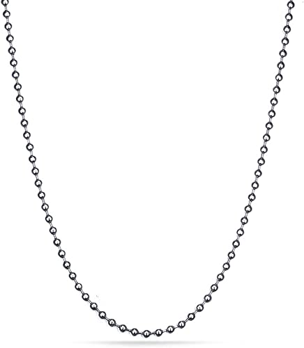 Silver 29.5 Inch Stainless Steel Ball Chains Necklace  2,3 mm for //pendant