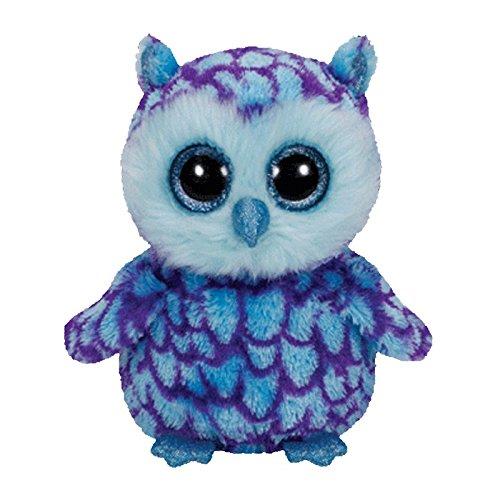 Ty Beanie Boos Oscar The Blue Purple Owl Plush