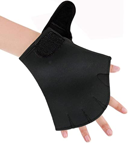 Webbed Gloves for Water Aerobics Flow Swimming Resistance Gloves and Swim Training Aquatic Fitness