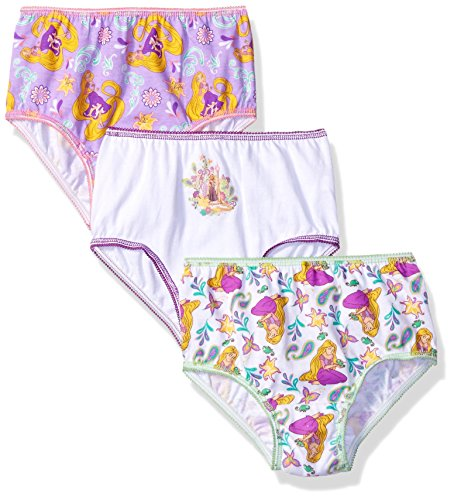 Disney Toddler Girls' Rapunzel 3 Pack Panty, Assorted,