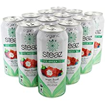 Steaz - Lightly Sweetened Iced Green Tea Super Fruit - 12 Can(s)
