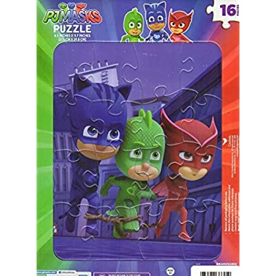 Puzzle Kids Playtime Toddler Fun PICTURE MAY VARY 16 Pieces Jigsaw PJ Masks: Toys & Games