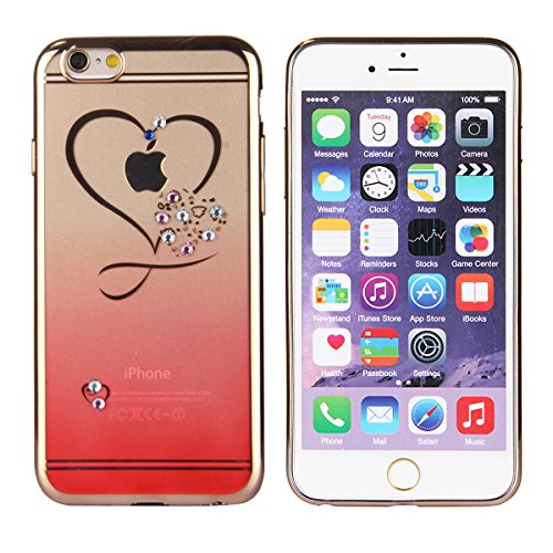 Funda para Galaxy Note 3, Galaxy Note 3 Silicona Funda Transparente Carcasa con Bling diamante, Galaxy Note 3 Funda Flexible Gel Protector Silicona Caso Parachoques Bumper, Galaxy Note 3 Slim Silicone Red Love