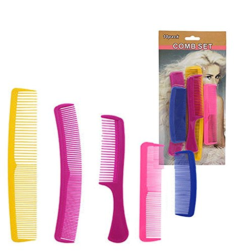 16 Pc Combs Set Pro Salon Hair Styling Hairdressing Plastic Barbers Brush Pocket