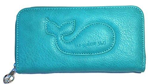 Bungalow360 Original Vegan Leather Zip-Around Wallet (Lagoon Blue)