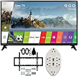 LG 49'' Class Full HD 1080p Smart LED TV 2017 Model (LG49LJ5500) with Deco Mount Slim Flat Wall Mount Ultimate Bundle Kit for 32-60 inch TVs & Stanley Transformer Tap USB w/ 6-Outlet Wall Adapter