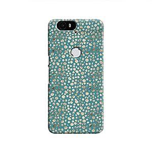 Cover It Up - Brown Blue Pebbles Mosaic Nexus 6P Hard Case