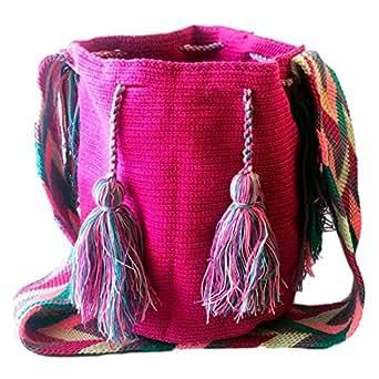 Wayuu handmade crossbody bag for women - BUBBLEGUM