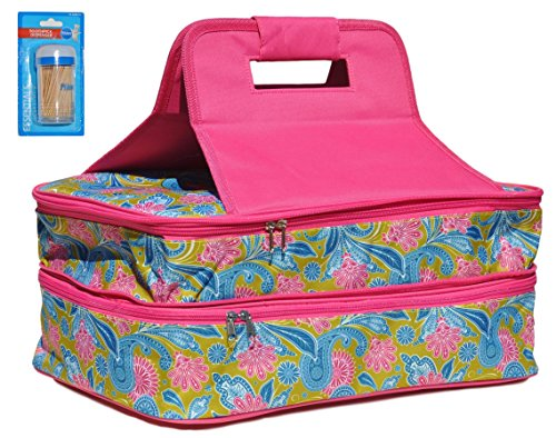 Last Minute School Girl Costume - Paisley Double Thermal Expandable Insulated Large Hot Cold Lasagna Pan Casserole Dish Food Carrier for Her Mom Best Friend (Color3)
