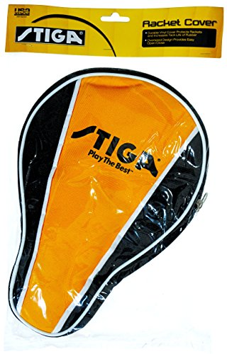 STIGA Table Tennis Racket Cover Made from Durable Vinyl to Protect 1-2 Rackets at Once and Increase Tack-Life of Rubber by STIGA (Image #4)