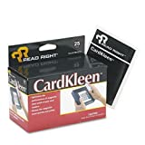 Read Right CardKleen Presaturated Magnetic Head Cleaning Cards, 25/Box
