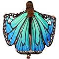 Halloween Party Soft Fabric Butterfly Wings Shawl Fairy Ladies Nymph Pixie Costume Accessory