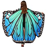 Halloween/Party Prop Soft Fabric Butterfly Wings Shawl Fairy Ladies Nymph Pixie Costume Accessory (Blue Green)