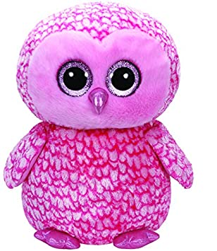 Ty - Pinky, peluche búho, 40 cm, color rosa (36608TY)