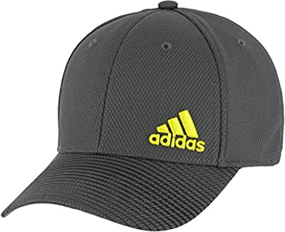 adidas Men's Standard Release Stretch Fit, Onix/Black/Shock Yellow, L/XL from adidas