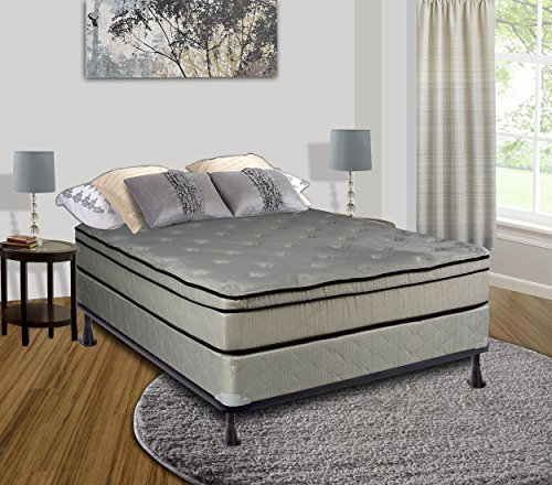 Continental Sleep Mattress, 11 Inch Euro Top Assembled , Orthopedic Full  Mattress and Box Spring with Cozy Teddy Bear Fabric, Victoria Collection by Spring Coil