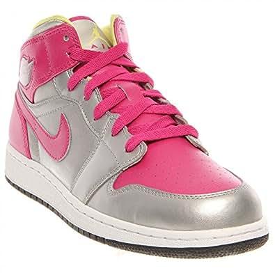 Amazon.com | Nike Girls Air Jordan 1 Mid (GS) / Color